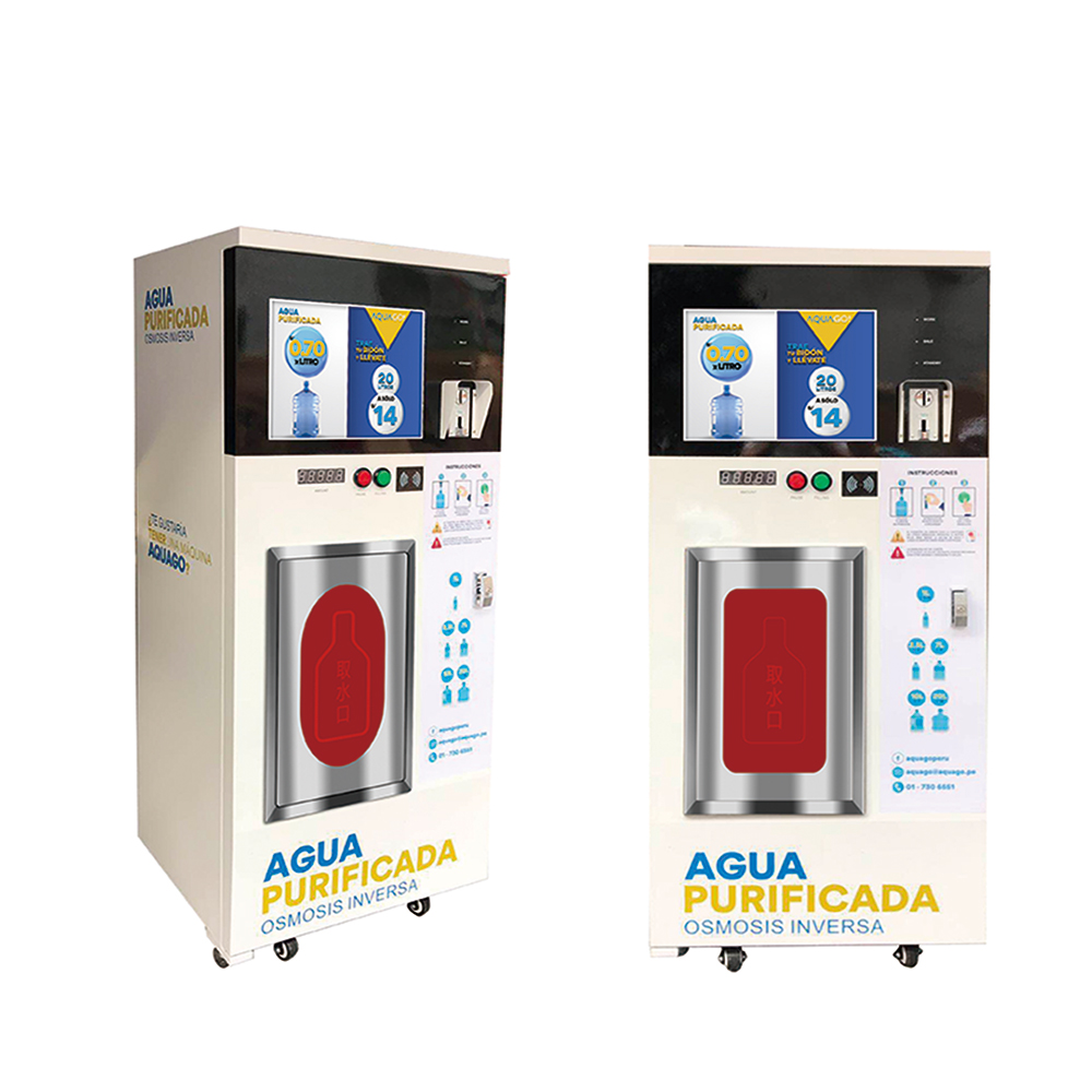 Outdoor water vending machine